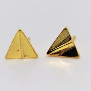 Airplane Gold Plated Earrings